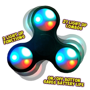 Light Up Fidget Spinner - Assorted (each)