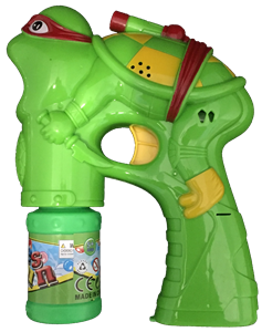 Turtle with Mask Bubble Gun