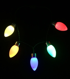 Mega 4 inch Christmas Bulb Necklace