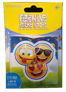 Flashing Sticky Badge - Emoji