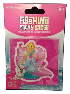 Flashing Sticky Badge - Princess