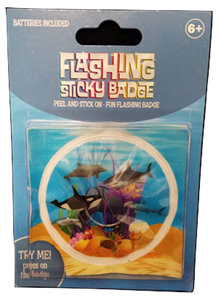 Flashing Sticky Badge - Sea Life