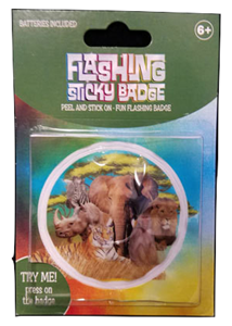 Flashing Sticky Badge - Zoo