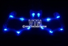 Bat Light Up Sunglasses Blue