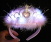 Light Up Fuzzy Princess Headband Tiara