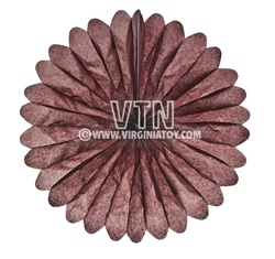 "14"" Rice Paper Flower - Brown"