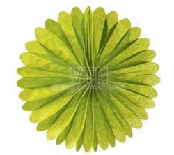 "14"" Rice Paper Flower - Light Green"
