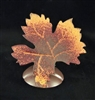 "3"" Tin Tall Maple Leaf Card Holder"