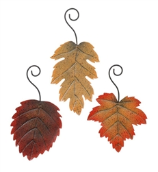 "5"" Tin Fall Leaves - Tan"