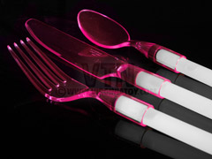 WeGlow Ware The Glowing Flatware - Pink Cutlery