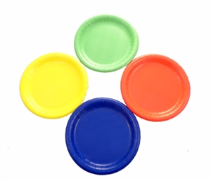 "WeGlow 7"" Paper Plates - Assorted Colors"