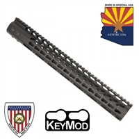 "GUNTECH USA 15"" ULTRA LW THIN KEYMOD RAIL"