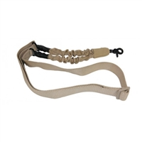 "ONE POINT BUNGEE SLING ""DESERT TAN"" WITH QD SNAP HOOK"