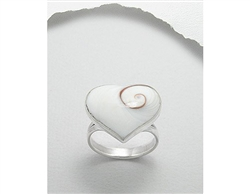 Nautilus Shell Heart Shaped Sterling Silver Ring (8)