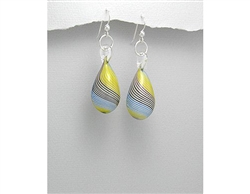 Glass Drop Sterling Silver Earrings