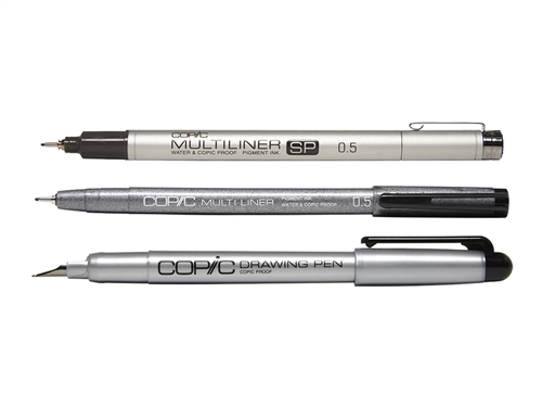 Individual Copic Multiliners and Drawing Pens