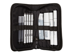 .Black Ink Pro Liner Kit Copic Inking wallet set