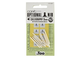 COPIC - Marker Replacement Nibs - Calligraphy 3mm (Set of 10)