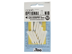 COPIC - Marker Replacement Nibs - Calligraphy 5mm (Set of 10)
