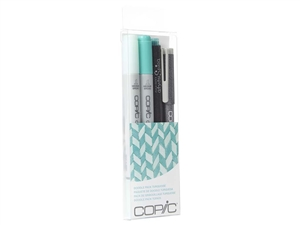 Copic Ciao 4pc Doodle Pack Turquoise marker set