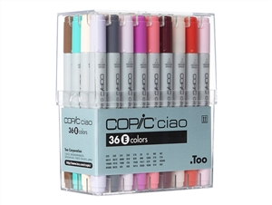 Copic Ciao Markers: 36 Color - Set E