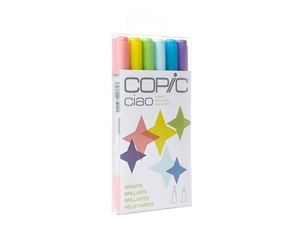 Copic Ciao 6 Piece Kit Bright Colors