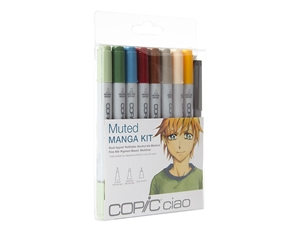 Copic Ciao Manga Kit - Muted Colors Marker Set