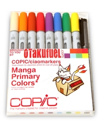 Copic Ciao Manga Kit - Primary Colors Marker Set [Otakufuel-Hineko set]