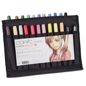 Copic Ciao Wallet Set D - 22 Colors + 2 Multiliners