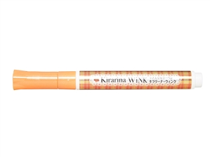 Kirarina Wink Orange Glitter Pen