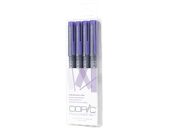 .Copic Multiliner Lavender Inking Pens 4 Piece Set [LAVENDER]