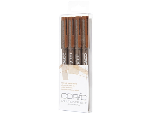 Copic Multiliner Inking Pens 4 Piece Sepia Set [SEPIA]