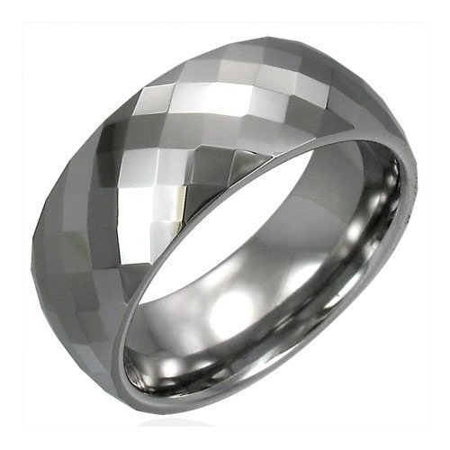 Diamond Cut Tungsten Carbide Ring