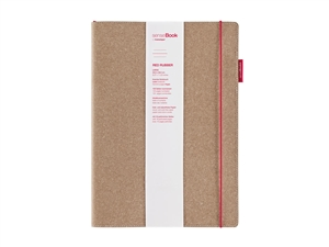 senseBook 8x11 Red Rubber Ruled
