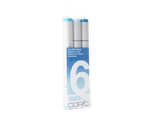 Copic Sketch Color Fusion Set 6 - Set of 3 Markers