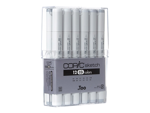 Copic Sketch Set of 12 Cool Gray Markers