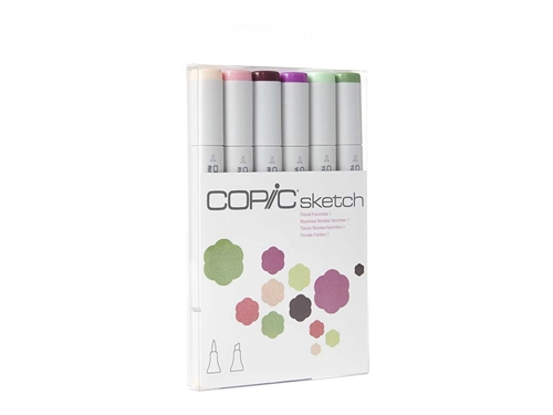 Copic Sketch Set of 6 Markers - Floral Favorites 1