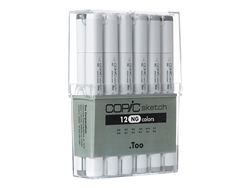 Copic Sketch Set of 12 Neutral Gray Markers