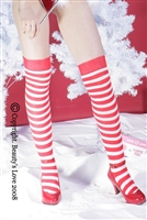 Opaque and Striped Thigh Highs * 9036