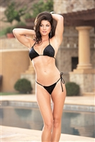 "Sexy Crushed ""Black Velvet"" Bikini w/ G-String * 5808"