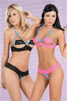 Two Piece Crotchless Set * 273