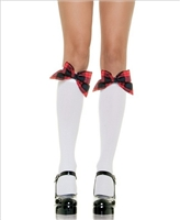 Plaid Bow Knee Highs * 5560