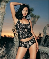 Spanish Lace Cami With Shorts * 8657