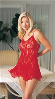 Rose Bud Lace Chemise With G-String * 8674