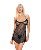 Lace Chemise With G-String * 8786