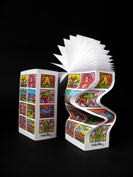 "Keith Haring ""Retrospect"" Morph notepad"