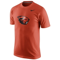 Oregon State Beavers Nike Cotton Logo Tee - Orange