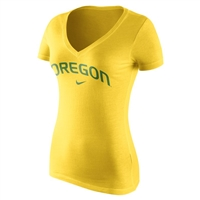 Oregon Ducks Nike Wordmark Tee Yellow