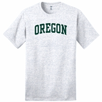 Oregon Ducks Classic Cotton Arched T-Shirt - Grey Charcoal