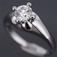 Bvlgari corona engagement diamond ring platinum